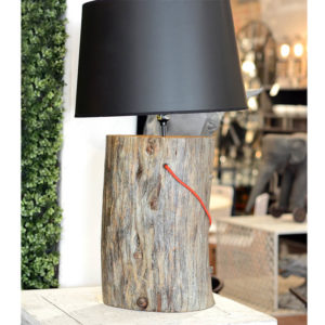 Wood Slice Table Lamp