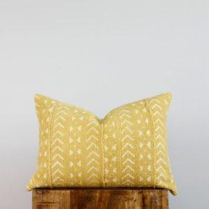 Musturd Mudcloth Lumbar Pillow