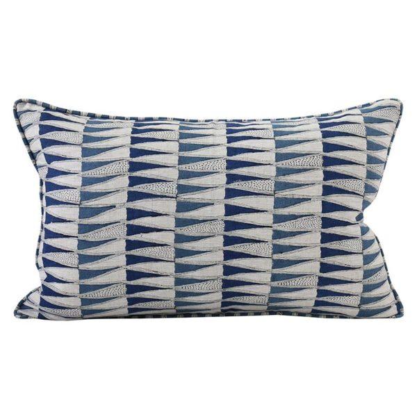 Tangier Denim Linen Pillow