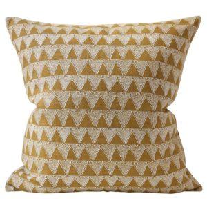 Bantu Saffron Linen Pillow