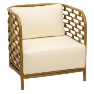 Sydney Mod Steps Lounge Chair in Nutmeg