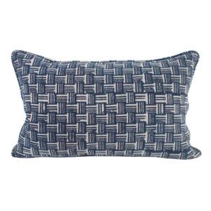 Wicker Indigo 20s Pillow 14 x 22