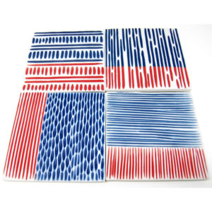 Coaster Red & Blue S/4