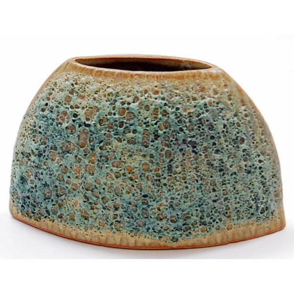 Trapezoid Vase, Moss Green SRI-120-G
