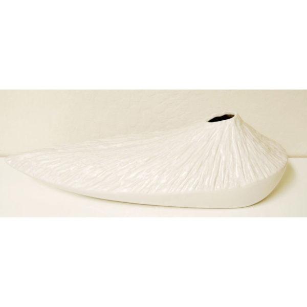 Long Volcano Vase, White VS652WH