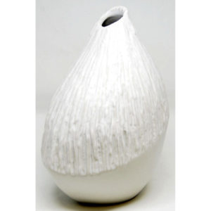 Small Volcano Vase, White VS653WH