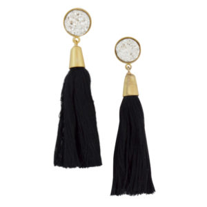 Black Druzi Earrings