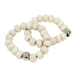 Buddha Silver Bead Bracelet