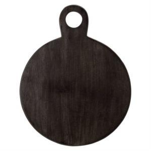 Round Acacia Tray/Cutting Board Blk