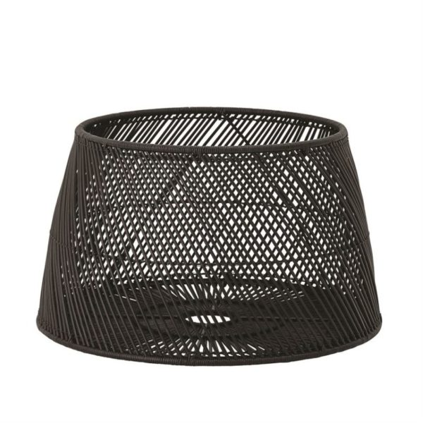 Rattan/Abaca Drum Table, Black