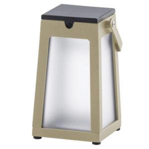 Kiyoto Taupe Solar Lantern