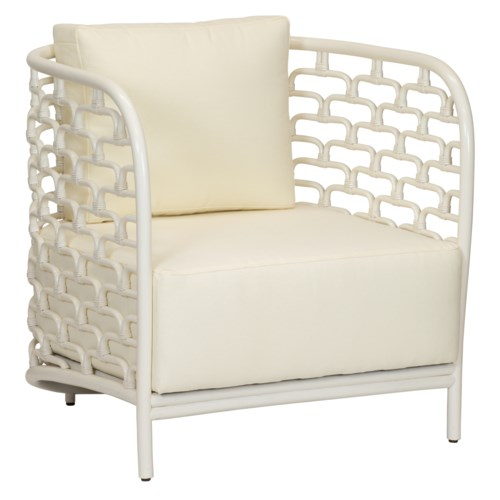 Steps Lounge Chair in Winter White