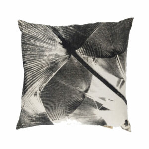 Linen Palm Pillow, Black