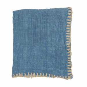 Woven Stitched Throw, Blue