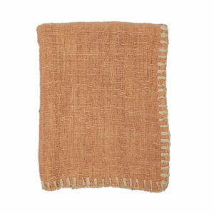 Woven Stitched Throw, Blush