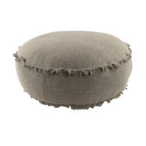 Round Floor Cushion, Charcoal