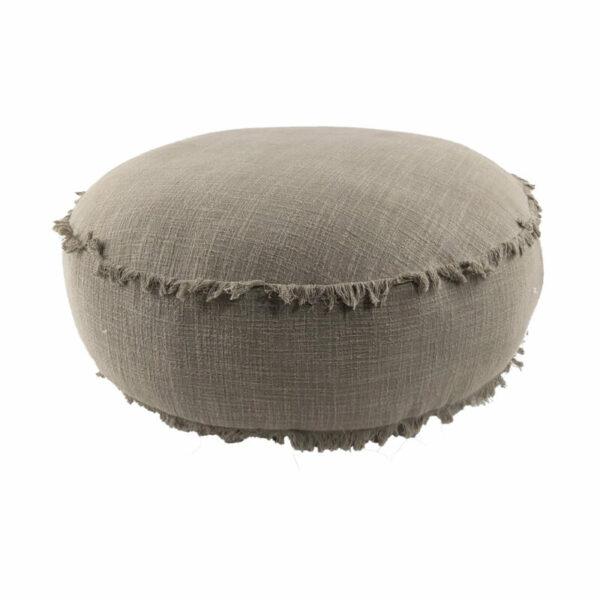 Round Floor Cushion, Charcoal
