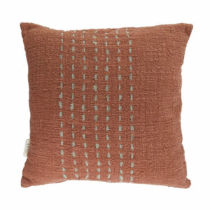 Cotton Stitch Pillow, Clay