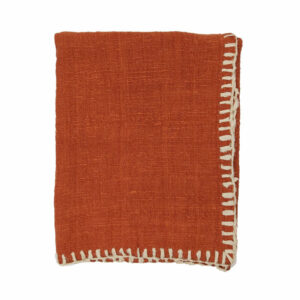 Woven Stitched Throw, Clay