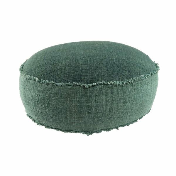Round Floor Cushion, Green