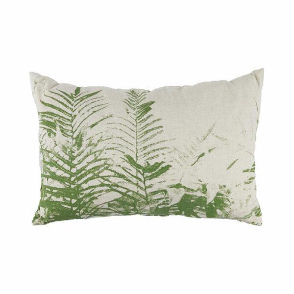 Linen Fern Lumbar, Green