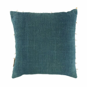 Cowrie Border Pillow, Green