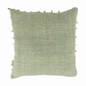Cowrie Border Pillow, Mint