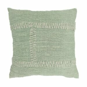 Blanket Stitch Pillow, Mint