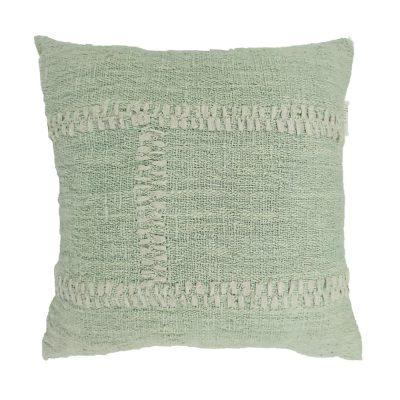 Blanket Stitch Pillow, Mint