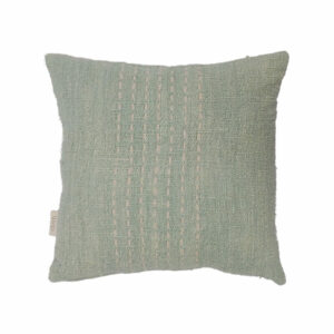 Cotton Stitch Pillow, Mint