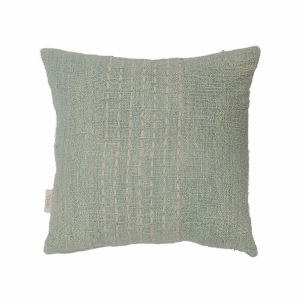 Cotton Stitch Pillow, Mint