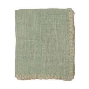 Woven Stitched Throw, Mint