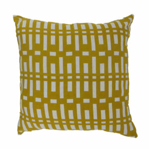Abstract Linen Pillow, Mustard