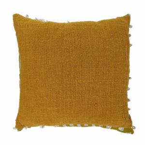 Cowrie Border Pillow, Mustard