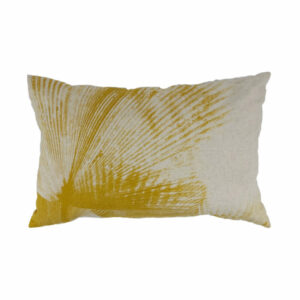 Linen Fan Palm Lumbar, Mustard