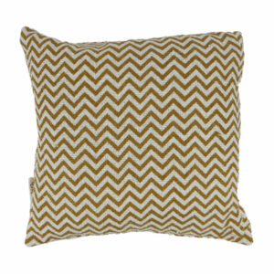 Cotton Chevron Pillow, Mustard