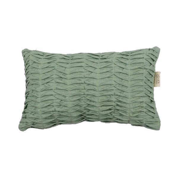 Linen Multi Folds Pillow, Mint