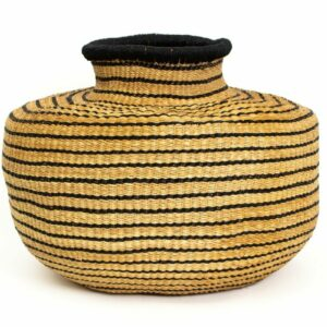 Striped Black Grass Pot