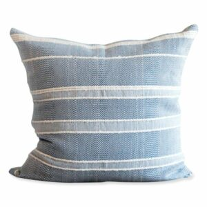 "Mar y Sol Pillow - 20"" Blue"