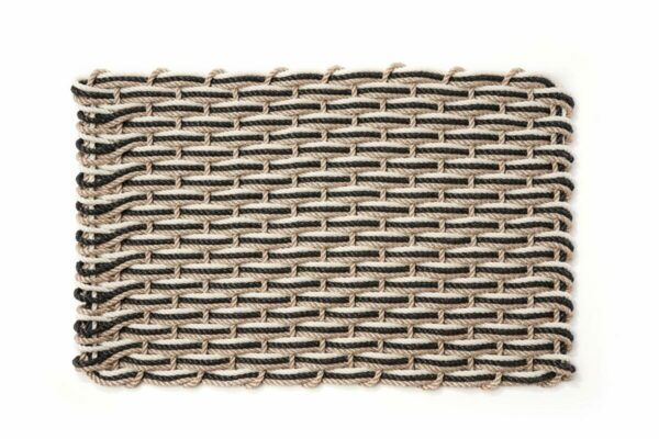 Sand + Charcoal + Oyster Doormat