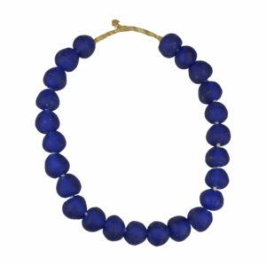 Recucled Glass Beads Blue Lg