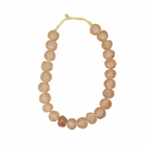 Recycled Glass Beads Pink Lg